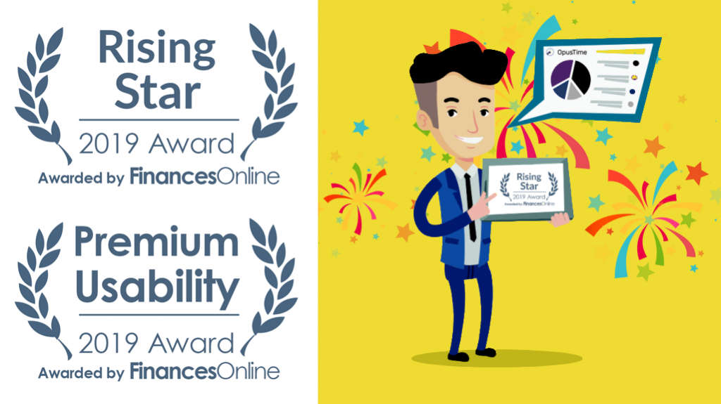 OpusTime App wins 2019 Premium Usability and Rising Star Awards from Financesonline.com