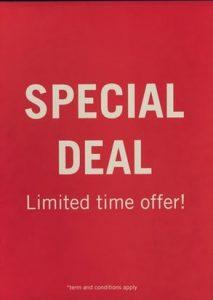 9. Special deals